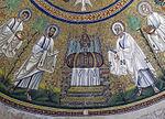 Battistero degli ariani, int, mosaico della cupola 05 etimasia.jpg