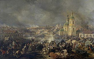 Battle of Vyazma - Battle of Vyazma, by Piter von Hess