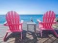 Beach chairs Cozumel Mexico (21401044781).jpg