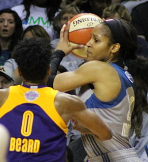 Alana Beard - Beard guarding Maya Moore during the 2017 WNBA Finals