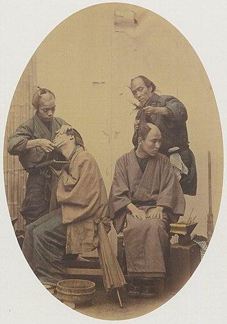 Felice A. Beato - The Barber, photograph by Felix A. Beato, c. 1875