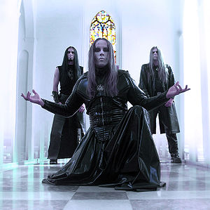 Behemoth (band) - Behemoth in 2004, from left to right: Tomasz Wróblewski, Adam Darski and Zbigniew Robert Promiński