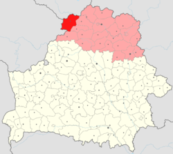 Location of Braslaw District