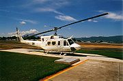 Alpine Helicopters contract Bell 212 on UN peacekeeping duty in Guatemala, 1998.