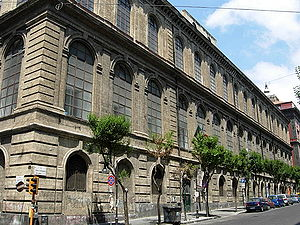 Accademia di Belle Arti di Napoli - Facade of the main academy building on Via Santa Maria di Costantinopoli