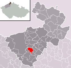 Location of Benešov nad Ploučnicí
