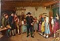 Benjamin Vautier (1829-1898), Die erste Tanzstunde, Porzellanmalerei, Bildplatte, D2134.jpg