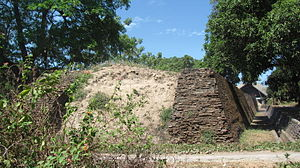 Fort Somba Opu - remnants of the western wall.