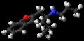 Benzofuranylpropylaminopentane molecule ball.png