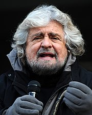 Beppe Grillo a Trento nel 2012