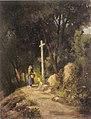 BergaiBoix s t (nena davant d'una creu de terme) 1870.jpg