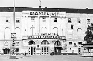 Berlin Sportpalast - Reopened Sportpalast, 1955.