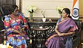 Bernadette Essossimna Legzim Balouki meeting the Minister of State for Commerce & Industry (Independent Charge), Smt. Nirmala Sitharaman, in New Delhi.jpg