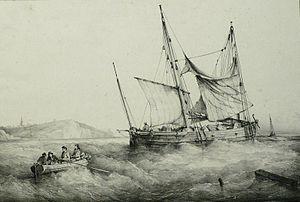 Bernard Lemercier d'après une peinture de Ferdinand Perrot - Petit Caboteur Bas-Breton.jpg