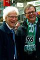Bernd Strauch, Erster Bürgermeister von Hannover, und Hans-Martin Heinemann, Stadtsuperintendent für den Ev.-luth. Stadtkirchenverband Hannover, freuen sich auf die Solidaritätstafel 2012.jpg