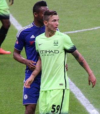 Bersant Celina - Celina playing for Manchester City in 2016