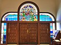 Best shot of front Holy Spirit stained glass window at Holy Spirit Catholic Church - panoramio.jpg