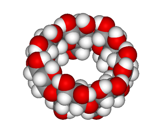 Cyclodextrin - Space filling model of β-cyclodextrin.