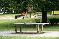 Beton Tischtennisplatte, Weikersheim (Concrete table tennis table, Weikersheim) - geo-en.hlipp.de - 13038.jpg