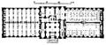 Biblioteksbyggnader, Grundplan af bottenvåningen i kungl biblioteket, Nordisk familjebok.png