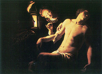 Trophime Bigot - One of at least four versions of St. Sebastian Aided by St. Irene by Bigot