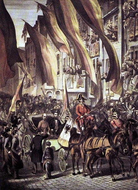 Archduke John arrives in Frankfurt, 10 July 1848