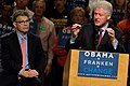 Bill Clinton with Al Franken Oct 30 2008.jpg