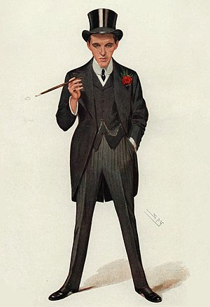"F. E. Smith, 1st Earl of Birkenhead - ""A Successful First Speech (""Moab is my Washpot"")"" F. E. Smith M.P. depicted in Vanity Fair, January 1907"
