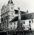 Biserica Piaristilor si Statuia Fecioarei Maria la 1859.jpg