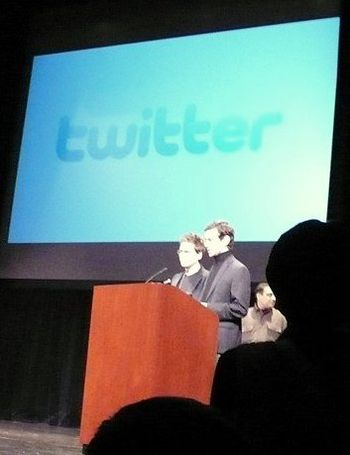 English: Biz Stone and Jack Dorsey, co-founder...