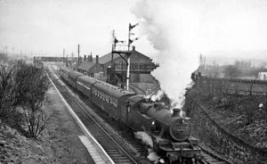 Blackrod railway station - Blackrod in 1962