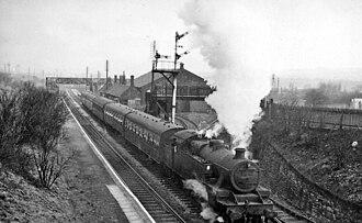 Blackrod railway station - Blackrod in 1962