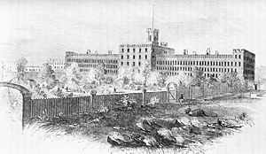 George Washington Dixon - The prison at Blackwell's Island, where Dixon served a six-month sentence for libel