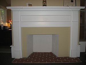 Blair–Dunning House - A fireplace inside the house