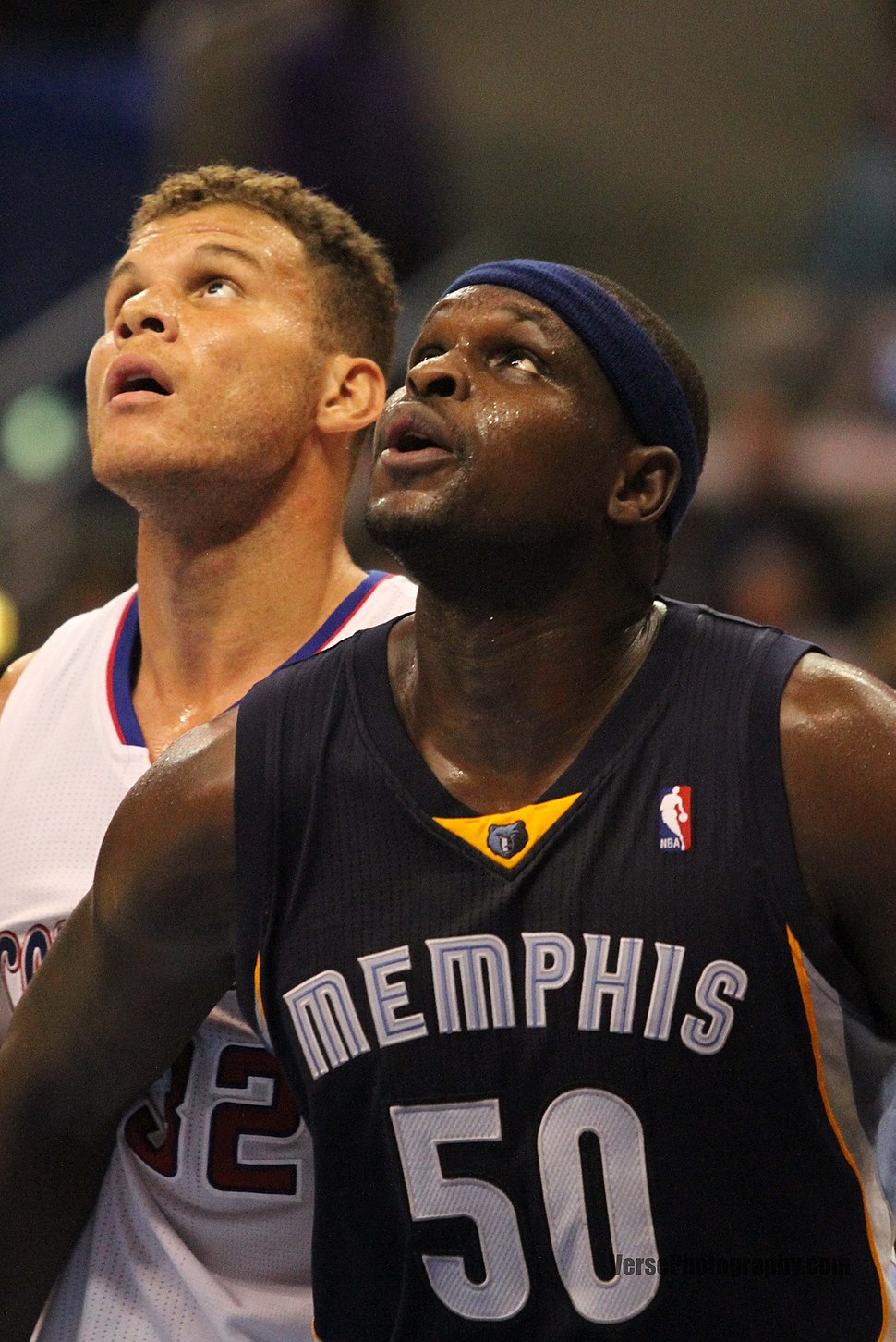 Blake Griffin Zach Randolph 20131118 Clippers v Grizzles