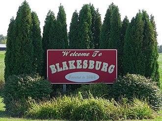 Blakesburg, Iowa - Image: Blakesburg IA Sign