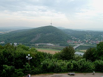Weser Uplands - View of the Weser Hills. The hill with the TV tower is the Jakobsberg.