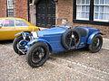 Blue Bugatti, Exeter Cathedral, 15 September 2011.jpg