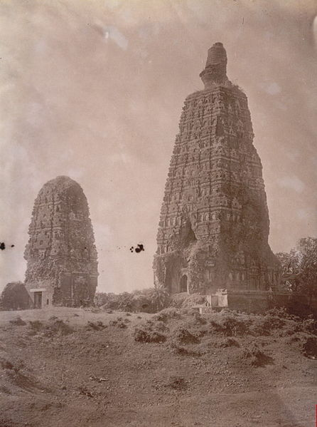 File:Bodh gaya before restoration.jpg