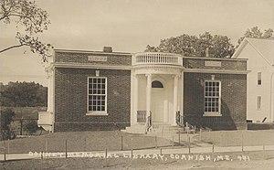 Cornish, Maine - Bonney Memorial Library, c. 1920