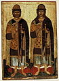 Boris and Gleb (Pskov, 14-15th c., GTG).jpg