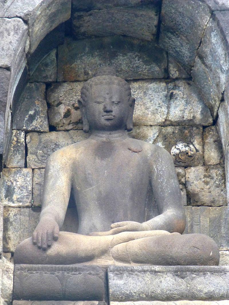 Borobudur - Buddha Statue - 006 Bhumisparsa Mudra, Akshobhya (11678949555).jpg