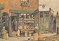 Bourne Walk, Hastings Old Town. From a watercolour painting by E Leslie Badham (1873-1944) (6346693247).jpg