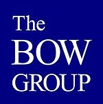 The logo of the Bow Group bears white text on a blue dark square