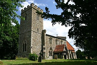 Boxted, Suffolk - Image: Boxted Church geograph.org.uk 198156