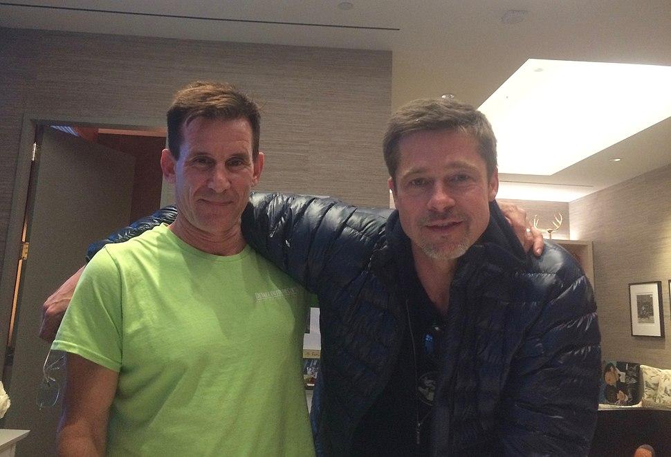 Brad Pitt with Andrew Lauer