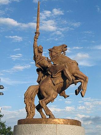 Svatopluk I of Moravia - Statue of Svatopluk on Bratislava Castle, Slovakia