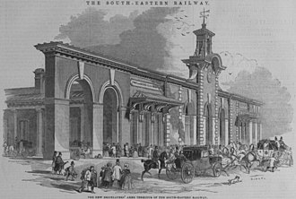 London and Croydon Railway - Lewis Cubitt's Bricklayers Arms station, 1844