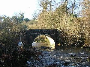 Rotten Calder - The Calder flowing under another stone bridge near High Blantyre