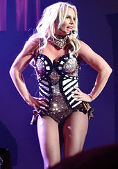 Britney Spears performing.